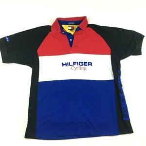 Tommy Hilfiger Cycling Polo Shirt 90s Spell Out